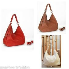 Ladies Large Designer Womens Soft Slouch Bag with Detachable Strap in 6 Colours