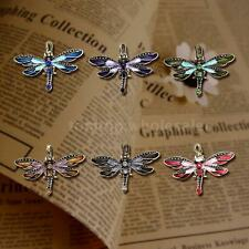 Fashion Charm Vintage Fashion Dragonfly Long Chain Sweater Necklace Pendant K4S3