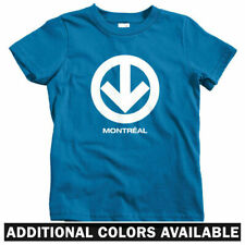 Montreal Metro Kids T-shirt - Baby Toddler Youth Tee - Subway Logo Graffiti Gift