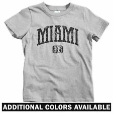 Miami 305 Kids T-shirt - Baby Toddler Youth Tee - Florida South Beach Dolphins