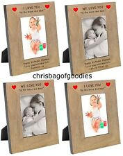 PERSONALISED I LOVE YOU TO THE MOON and BACK Photo FRAME Gifts Presents for her