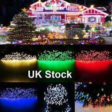100 200 LED Solar Powered Fairy String Lights Lamp Garden Party Decor XMAS