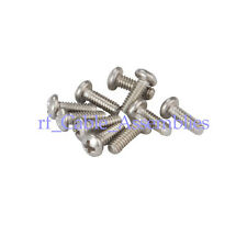 100x Fully Threaded 2-56 Stainless Steel SUS304 Phillips Pan Head Machine Screw