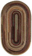 Capel Rugs Eaton Wool Soft Chenille Braided Country Oval Rug Wineberry #575
