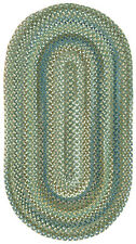 Capel Rugs Kill Devil Hill Wool Green/Brown/Blue Pine Forest Braided Rug #280