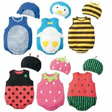Baby Boy Girl Animal/Fruit Halloween Party Costume Outfit Clothes+HAT Set 0 1 2