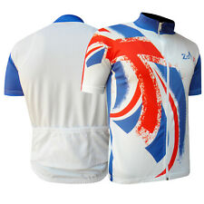 Mens Cycling Jersey / Shirt Short Sleeves Outdoor Top Jersey UK FLAG S TO XXL