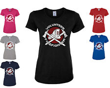 Volunteer Firefighter Women's T-Shirt Firefighter Helmet Axe FD Fireman Hero