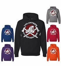 Volunteer Firefighter Sweatshirt Fireman Gift Hoodie Fire Dept Axe Helmet Rescue