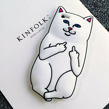 New 3D Cute Middle Finger Pocket Cat Soft Silicone Phone Case Back Cover Skins