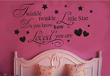 Twinkle Twinkle Little Star Quote Wall Sticker Home Art Decal Room Nursery Decor
