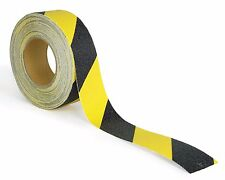 Black and Yellow Anti Slip Safety Grit Non Slip Tape - Traction 60' Feet