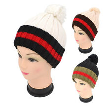 Unisex Mens Womens Knit Woolly Warm Winter Oversized Slouch Beanie Ski Hat Cap