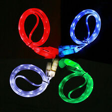 LED Light Micro USB Charger Data Sync Cable for Samsung Galaxy S4 HTC LG Android