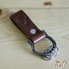 Leather Key Fob Belt Loop Holder Screw Shackle_Knife Sheath Dangler_FREE SHIP