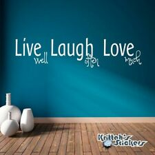 Live Well, Laugh Often, Love Much Vinyl Wall Decal removable art home decor L043