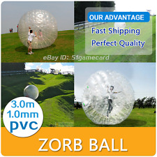 9.8ft(3M) Dia Zorb Ball Inflatable Zorb Ball Zorbing Human Hamster ball Holiday