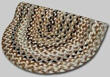 New Englands Beacon Hill Wool Country Oval Braided Rug Tans & Brown #45