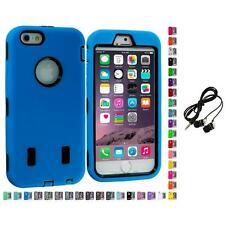 For Apple iPhone 6 (4.7) Hybrid Armor Case Cover LCD Accessories Headphones