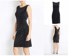 Wallis Black Silver Sparkly Ruched Bodycon Party Dress Size 8 10 12 14 16 18 £59