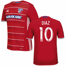 adidas FC Dallas MLS 2016 Mauro DIaz # 10 Soccer Home Jersey Brand New Red
