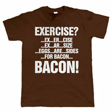 Exercise Eggs Bacon Mens Funny T Shirt - Eggs Are For Sides Gift For Dad