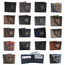 RODEO WHOLESALE LOT OF GENUINE LEATHER WESTERN BI-FOLD WALLETS  11 CARD SLOTS