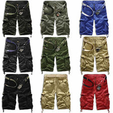 Men Casual Army Cargo Combat Camo Camouflage Overall Shorts Sports Pants 6 Sizes