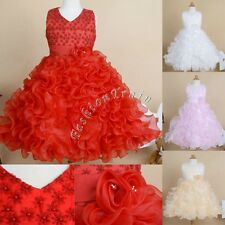 Flower Girl Dress Toddler Kid Pageant Wedding Bridesmaid Formal Easter Ball Gown