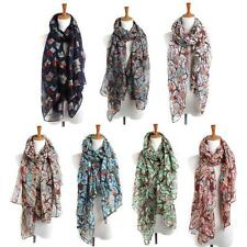 Hot New Arrived Fashion Women Scarf Ladies Owl Print Long Scarf Warm Wrap Shawl