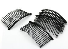 20pcs Silver Metal Hair Side Combs Clips 80mm w/20 Teeth for DIY Headwear Crafts