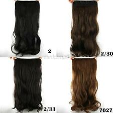 Beauty Sexy Womens Long Wavy Curly 5 Clips Clip-in Synthetic Hair Extension Hot
