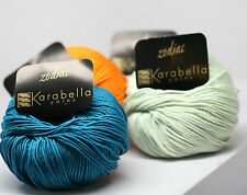 Karabella ZODIAC YARN - 100% Mercerized Cotton light worsted weight