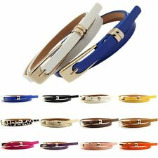 Fashion Women Lady Girl Waistband Thin Leather Skinny Belt Buckle Waist New Gift