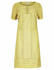 NEW Current Marks & Spencer Per Una Anglais Lime  Shift Dress Lined 8-14 Rrp £49