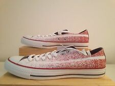 Mens Converse Chuck Taylor All Star Ox Americana White Red Textile Trainers