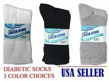 BURUKA  MEN'S WOMEN'S DIABETIC SOCKS CREW CIRCULATION LOT OF 3 6 12 + PAIRS