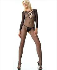 VARIOUS Sex y Reversible Fishnet Criss Cross Long Sleeve Crotchless Bodystocking