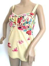 Per Una Yellow Pink Red Floral Lace Tie Back Cami Top Size 8 10 12 14 16 18 20
