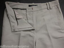 New Womens Beige Cotton & Linen Tailored NEXT Trousers Size 16 14 12 10 RRP £32
