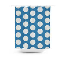 Large Polka Dots on Blue Shower Curtain - Unique in 4 sizes for any Bathroom