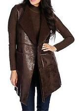 NEW WD.NY Faux Sherpa & Sweater Knit Open Front Duster Cardigan M XL, 1X, 2X, 3X