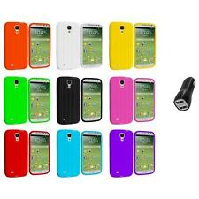Tire Tread Soft Silicone Case Cover+2.1A Charger for Samsung Galaxy S4 SIV i9500