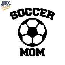 Soccer Ball with Mom Text - Vinyl Sports Car Decal Sticker