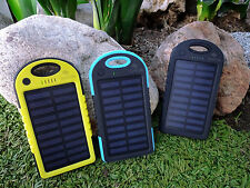 Solar Power Bank External Battery Pack 5V USB Panel Charger For Cell Phone
