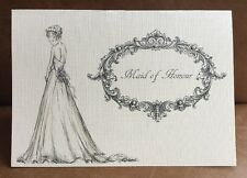 Personalised Maid of honour thank you wedding card, Bridesmaid, mum of the bride