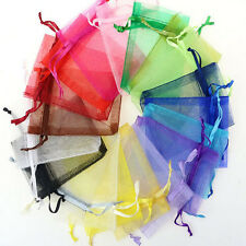50 Organza Gift Bags Jewellery Christmas Packing Pouches Wedding Party Favour v