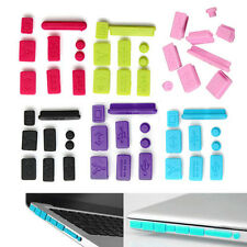Set/9pcs Silicone Anti-dust Plug Ports Cover Cap Protector for Macbook Pro13 15