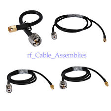 RG58 PL259 UHF MALE or SO239 Female to SMA Male /Female Coaxial Pigtail Cable 1M