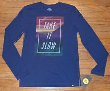 Life is Good Long Sleeve T-Shirt TAKE IT SLOW Authentic Tee Men's Light Weight